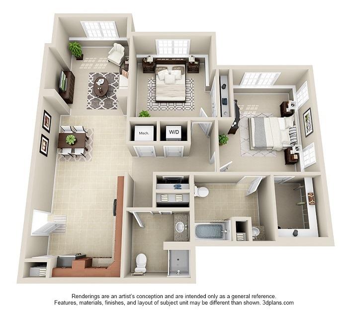 Hoosick : Unit 1A and 1B (2-Bedroom)