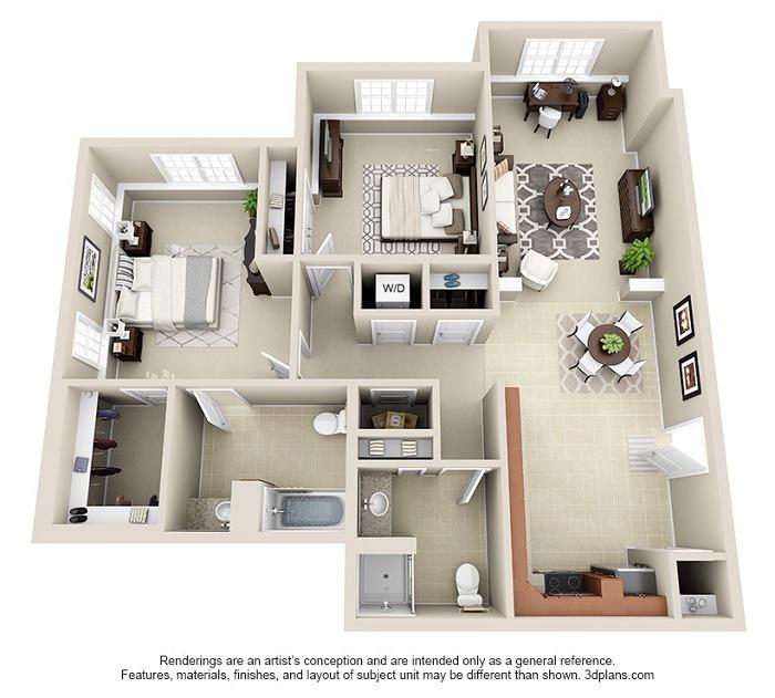 Hoosick : Unit 1c (2-Bedroom)
