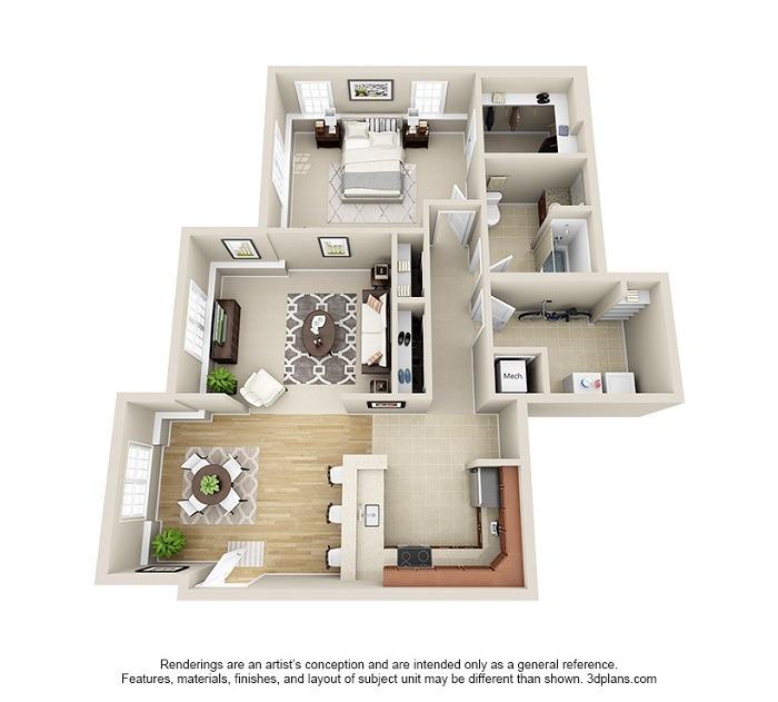 Hoosick : Unit 1D (1-Bedroom)