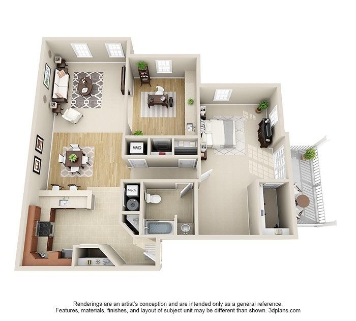 Hoosick : Unit 3A (1-Bedroom)