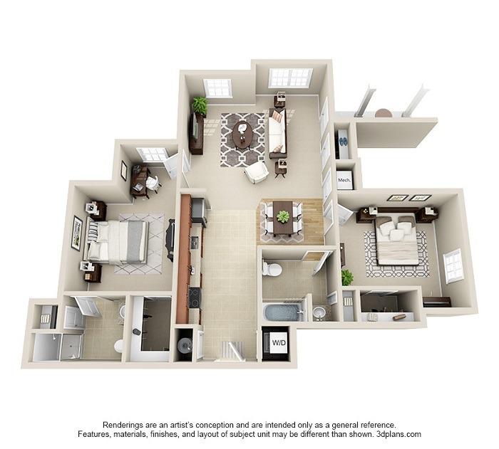 Oakwood : Unit 1D (2-Bedroom)