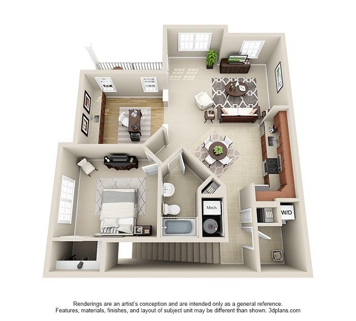 Oakwood : Unit 2A (1-Bedroom)