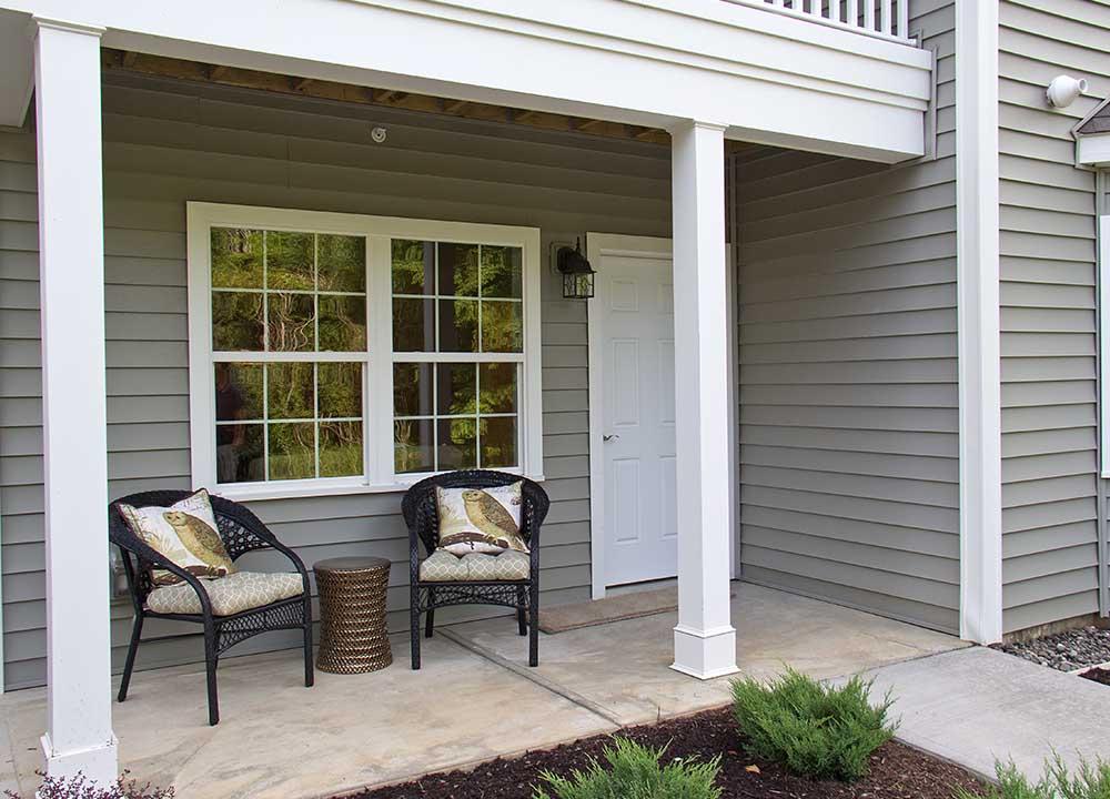 Apartment porch entrance