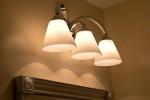 3 light over mirror in bathroom
