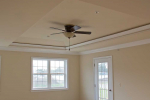 Tray Ceiling with ceiling fan