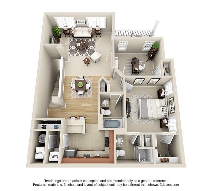 Oakwood : Unit 2D (2-Bedroom)